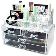 acrylic makeup organizer with drawers acrylic makeup organizer storage box case cosmetic jewelry 4 drawer clear