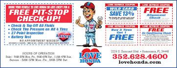 Pit <b>Stop</b> Service Specials Fast | <b>Love</b> Honda Of Homosassa, FL