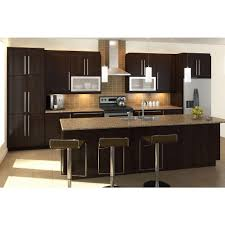 Dark Maple Kitchen Cabinets Fabritec Ready To Assemble 36x30x125 In Barcelona Wall Cabinet