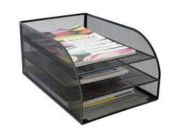 desk office file document paper. Office File Desk Organizer Storage Rack Mesh Holder Document Tray Paper 3 Tier G