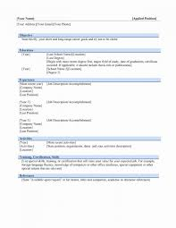 Fresher Resume Format Download New Iti Resume Format Free Download