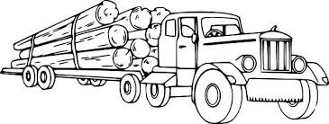 Small Picture Logging Semi Truck Coloring Page Download Print Online