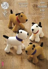 Crochet Dog Pattern Mesmerizing King Cole Amigurumi Crochet PUPPY DOGS Pattern 48