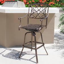 lovable patio furniture bar backyard decorating ideas outdoor cast aluminum swivel bar stool patio furniture antique