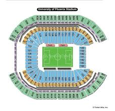 University Of Phoenix Seating Chart State Farm Stadium Glendale Az Seating Chart View