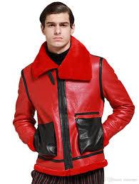 2019 fur coat men s shearling jacket b3 flight jacket short fur leather jacket imported wool from australia men s sheepskin aviator from elaineqin
