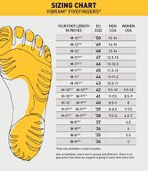 Vibram Size Chart Men Vibram Fivefingers Womens Signa Water Shoes