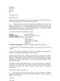 Sample Of Offer Letter For Staff Nurse