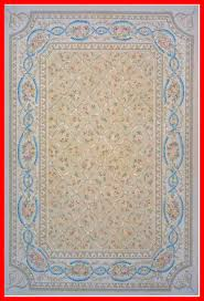 aubusson hand woven wool beige brown blue area rug rug size rectangle 8 11 x 12 1