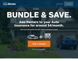 Allstate Renter Auto Bundle Insurance Quote Affiliate Programs Amazing All State Quote
