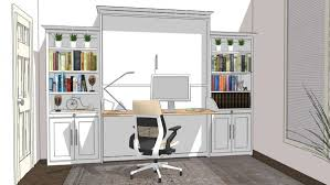 home office with murphy bed. Wall Bed System With Side Piers For Home Office Murphy