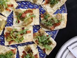 bacon and artichoke hearts lavash
