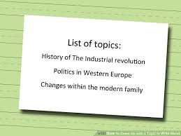 ways to come up a topic to write about wikihow image titled come up a topic to write about step 3