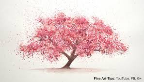 how to paint a cherry tree in watercolor splatter painting trees paint a tree sakura you