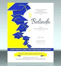 Free Invitation Templates For Word 650 704 Free Graduation