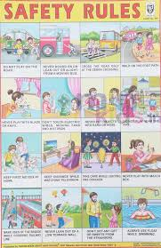 Safety Habits Chart Safety Rules Chart Number 250 Minikids In