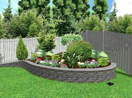 Wonderful Green Pink Stone Unique Design Small Landscape Ideas Also Landscaping  Ideas Outdoor Lawn Garden Picture Landscape Ideas for Small Areas