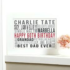 60th birthday gift ideas for him personalized present brother