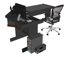 office table models. office table 3d model skp 4 models