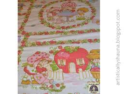 my daughter s and i found these fun vintage strawberry shortcake sheets at a doll show we went to what a treasure i loved strawberry shortcake growing up