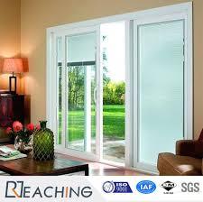 108mm series sliding open pvc glass door with exw