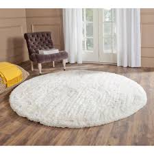 have a white round rug you can be proud of