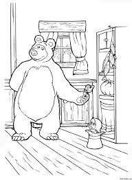 13 printable masha and the bear coloring pages | Print Color Craft