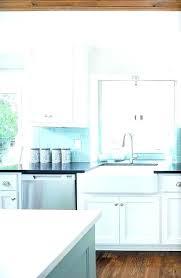 kitchen blue glass backsplash. Sea Glass Blue Kitchen Backsplash A
