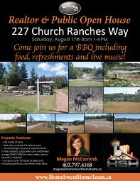 home sweet home team blog open house 227 church ranches open house flyer