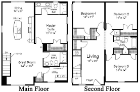 two story house floor plans free unique 2 story coastal floor plans free line image house