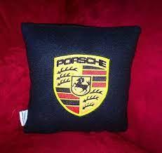 Porsche Logo Decorative Plush Pillow Porsche Lovers Gift Porsche Pillow Car Pillow With Porsche Logo Small Porsche Logo Pillow Plush