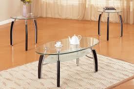 3 piece coffee table set glass oval top huntington beach furniture uk 0001