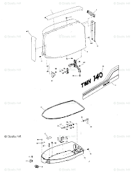 Mercury chrysler outboard parts by hp model 140hp oem parts diagram for power trim unit boats