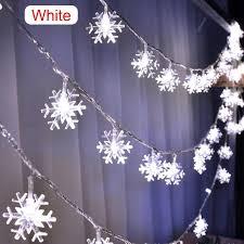 <b>20LED 3M</b> String Fairy Lights Battery Power Snowflake Christmas ...