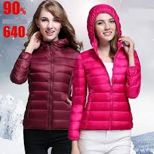 2018 new down jacket women spring autumn thin parkas women hooded designer coats short slim canada down coat jacket winter jackets for women from