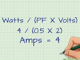 Kw To Amps Conversion Chart 3 Ways To Convert Watts To Amps Wikihow