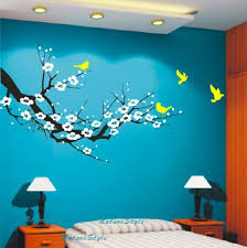 red cherry blossom wall decals birds