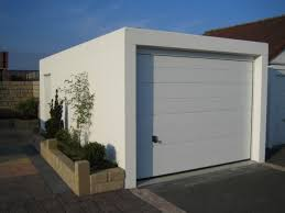 Decorating garage man door images : Decorations : Cool Modern White Prefab Garage Design Idea White ...