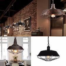 retro vintage e27 fixture industrial loft bar pendant light ceiling lamp chandelier cod