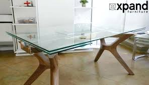 full size of round glass top table with wooden legs dining wood dark oval side amazing