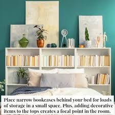 bookcases similar to the ones below would work for this the bookcase height will depend on how low to the ground your bed is you probably want a height of