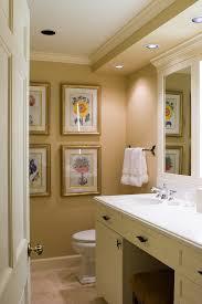 traditional bathroom lighting. Traditional Bathroom Lighting Ideas With Botanical Prints Towel Bar Wall Decor