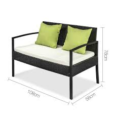 black outdoor wicker chairs. 4 Piece Outdoor Wicker Furniture Set \u2013 Black Chairs O