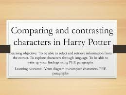 Venn Diagram Character Comparison Comparing And Contrasting Characters In Harry Potter By Christyjade1