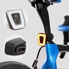Đèn Xe Đạp Đuôi Led Nhấp Nháy Chớp Vuông Gắn Sau Xe Đạp, Gắn Mũ Bảo Hiểm  MaiLee   Đèn xe đạp