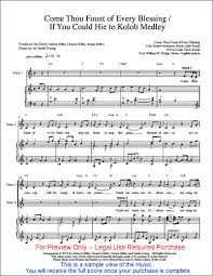 Come Thou Fount Chord Chart Sheet Music Performance Track Come Thou Fount Hie To