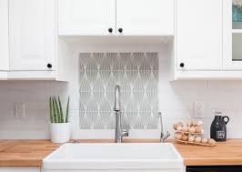 Decorative Tile Frames Crisp white subway tile frames our Contemporary Handpainted pattern 57