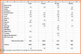 Setting Up A Budget Spreadsheet Excel Spreadsheet How To Make An