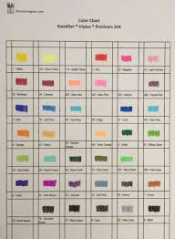 Color Charts For Marker Pens The Coloring Inn