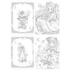 line art tranh tô màu Những nàng tiên hoa (10k/ 5 tranh) chính hãng 10,000đ